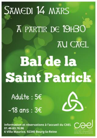 Affiche Bal de la Saint Patrick