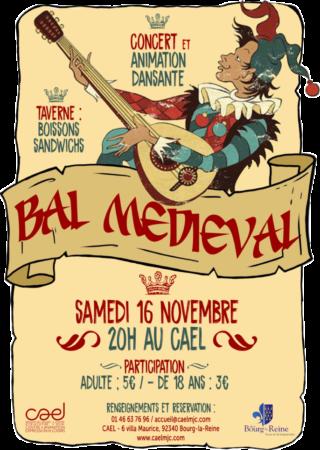 Affiche Bal médiéval