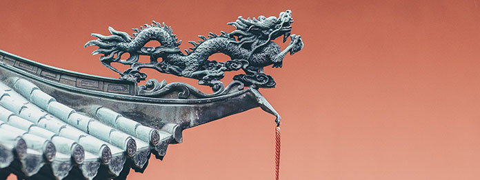 Sculpture dragon chinois