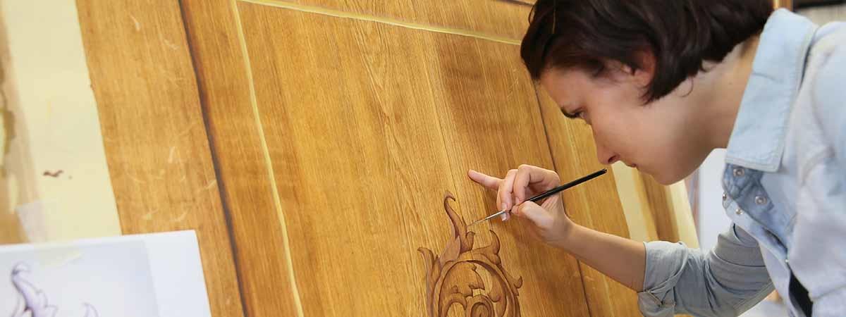 Peinture sur bois peinture décor